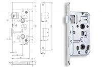 Spynos mechanizmas K135C.8x8